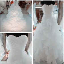 New White/ivory Wedding Dress Bridal Gown stock Size: 6 8 10 12 14 16 18 20++++