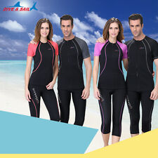 New 1.5mm Neoprene Lycra Rash guard Surf Swim Sun Shirt  Zip up Short Sleeve Top