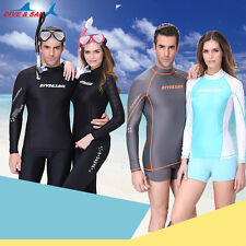 New Summer Long Sleeve Sun Shirt Surf Rash Guard Swimwear Top Beachwear Shirt