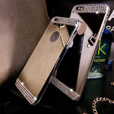Luxury Mirror Crystal Clear Bling TPU Soft Gel Case Back Cover Skin For phone
