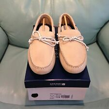 NIB Men's Sperry Top-Sider Hamilton Driver 1-Eye Ivory Leather Boat Shoes 10627
