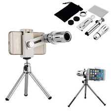 New 12X Zoom Camera Telephoto Telescope Lens+Tripod Mount Case For Various Phone