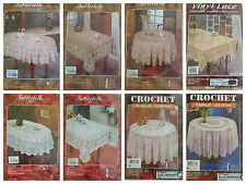 """New Luxury Lace Vinyl Tablecloth Round/Oblong/Oval Size 52"""" 54"""" 60"""" 62"""" 70"""" 90"""""""