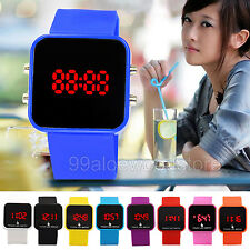 Women Men Digital Touch Screen LED Date Time Sport Watches Silicone Wrist Watch
