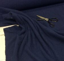 NAVY BLUE Cotton  Towelling Fabric Thick and Strong - Metre or Half Met