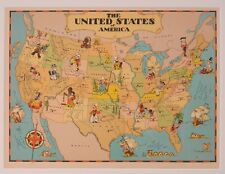 US Maps Gay Geography by Ruth Taylor White 1935 Originals