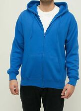 Full Zip Up Fleece Hoodie Zipper Hooded Sweatshirt Plain Solid Sweater Jacket