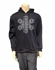 Long Sleeve Hoodie Mandala kabbalah Sign Men sweatshirt Psytrance BLACK  Pocket