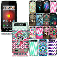 For Motorola Droid 4 XT894 Design SNAP ON Hard Skin Protector Case Cover Phone