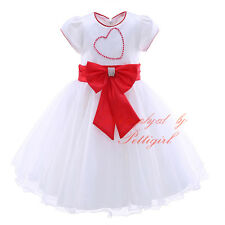 Baby Girls Party Dress Flower Girl Formal Wedding Christening Communion Age 1-4
