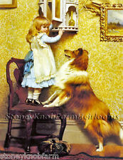 A Girl & Her Sheltie ~ Dogs, Children ~ Counted Cross Stitch Pattern