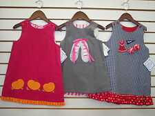 Girls Bailey Boys Reversible Jumper Dresses Size 2T - 6X