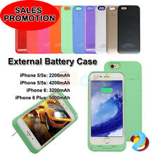 Portable External Stand Backup Battery Charger Case Cover for Apple iPhone 5 6