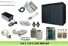 "Grow Tenda 120 & Grow Light 600W & 4 ""KIT VENTILATORE & cana Terra Completa Set Up Kit"