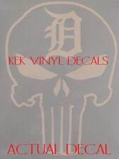 DETROIT TIGERS-THE PUNISHER CUSTOM VINYL DECAL-STICKER-SIZE AND COLOR