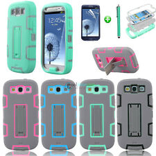 New Hybrid Rubber ShockProof Hard Bumper Case Cover For Samsung Galaxy S3 i9300