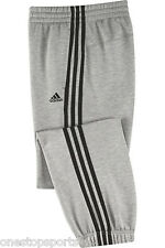 adidas boys grey tracksuit bottoms. Jogging bottom. Sweat pant. Various sizes!