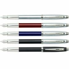 Sheaffer 100 Fountain Pen, Nickel Trim, Medium Nib - Gift box - All Colours