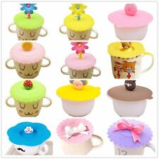 Creative Silicone Cute Anti-dust Coffee Cup Cover Safety Glass Mug Seal Lid Cap
