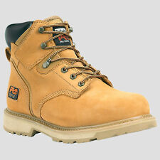 "Timberland PRO Boots Mens Pit Boss 6"" Steel Toe Brown, Nubuck, Black Work Boot"