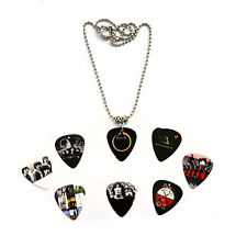 Hand Made Pink Floyd Guitar Pick  Plectrum Necklace 50cm Metal Bead Chain