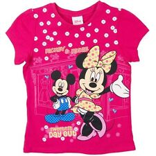 NEW DISNEY MINNIE MOUSE MICKEY MOUSE 100% COTTON PINK TEE TOP SHIRT SIZE 3,5,6,7