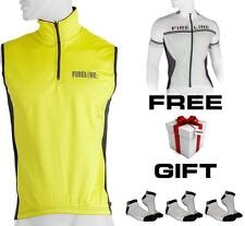 Cycling Road Bike Winter Fluro Yellow Vest + FREE Socks or Bike Top Jersey