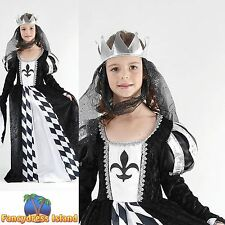 KIDS MEDIEVAL FAIRYTALE TUDOR CHESS QUEEN - Age 3-13 - Girls Fancy Dress Costume