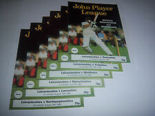 1982 LEICESTERSHIRE HOME CRICKET PROGRAMMES / SCORECARDS x 6 - ALL DIFFERENT