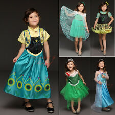 Frozen Elsa Anna Princess Costume Baby Girls Kids Sequinned Fancy Party Dress