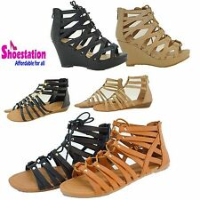 Womens Fashion Shoes Sandals Wedge Platform Open Toe Pump Strappy Heel HOT NEW
