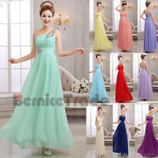 10 Colors Long Formal Bridesmaid Dresses Evening Ball Party Prom Gown Size 6-18