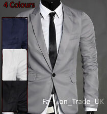 Uk Stock, 4 Colors. S M L, Casual Slim Fit One Button Suit Blazer Coats Jacket