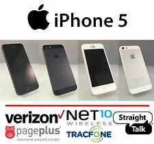 Apple iPhone 5 16/32/64GB (Straight Talk) Verizon Towers 4G LTE Black or White