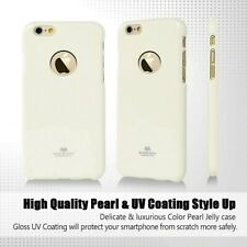 Genuine Goospery White Jelly Case Cover Skin + Apple LOGO Cutout For iPhone 6/6s