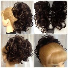 DM49 DIAMOND Curly Hair on 2 Bendable Wires UP-DO WEDDING CHOICE OF 38 COLORS !