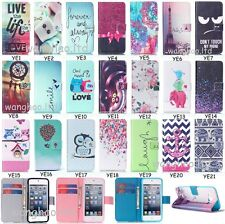 Cartoon Pretty Printed Flip PU Leather Wallet Stand Case TPU Cover For Phone