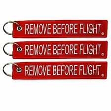 Pilot Crew 3 x Remove Before Flight Key Chain Aviation Motorcycle Tag Lock Gift