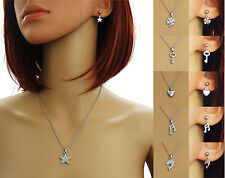 Necklace Pendant Studs Charms Stainless steel - 6 Motive STAR HEART KEY NOTE