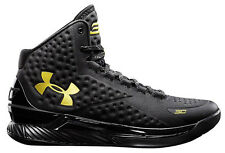 Under Armour UA Charged Foam Curry 1 One Blackout Black Gold Banner US 7.5-13