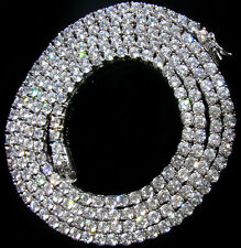 $299 Mens 14k White Gold Gp Simulate Diamond HipHop Chain CUSTOM MADE NECKLACE!!