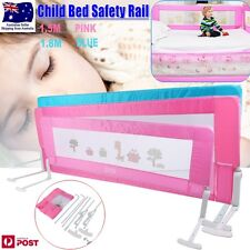 Safety Child Toddler  Bed Rail Baby Bedrail Fold Cot Guard Protection Pink/Blue