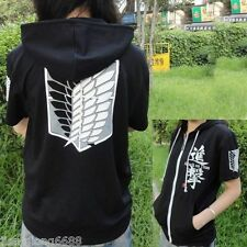 Black Anime Attack on Titan Cosplay Hoodie Scouting Legion Hooded Sweater @Ashop