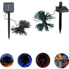 17m 100 Solar Power LED String Fairy Light Outdoor Garden Lawn Xmas Party 1MG7