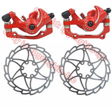 Universal Bike Bicycle Front&Rear Disk Disc Brake Calipers Set w/ 160mm Rotors