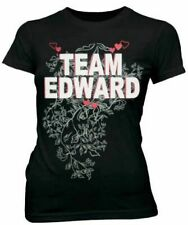 Juniors Womens/Teens Twilight Movie Team Edward Cullen Vampire Black T-shirt Tee
