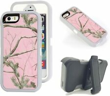 For iPhone 5/5S Defender Case Protective Realtree Camo W/Clip & Screen Protector