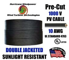 10 AWG Gauge PV Wire 5 foot - 300 foot for MC4 Connectors for Solar Installation