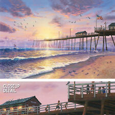 "42W""x28H"" FOOTPRINTS IN THE SAND by THOMAS KINKADE - CHOICES of CANVAS"