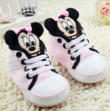 Toddle Infant  baby Boy Girl pink Soft Sole  crib Shoes Sneaker size 0-18months